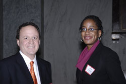 NAEVR Advocacy Manager David Epstein with Janel George from the office of Cong. Donna Edwards (D-MD)