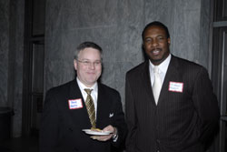 Brad Morris and Michael Fayoyin from the office of Cong. Travis Childers (D-MS)