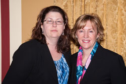 Left to right: Rebecca Hyder (American Academy of Ophthalmology) and Mary Lawrence, M.D., M.P.H, who serves as the Deputy Director of the VCE