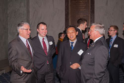Left to right: Michael Duenas, O.D. (American Optometric Association), Lester Marks (Lighthouse Guild), Roy Chuck, M.D., Ph.D. (Montefiore Medical Center/Albert Einstein College of Medicine of Yeshiva University) and Mark Ackermann (Lighthouse Guild)