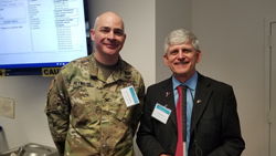 VRP Program Committee members Colonel Mark Reynolds, Chief of the joint DOD/Department of Veterans Affairs (VA) Vision Center of Excellence (VCE) with Blinded Veterans Association (BVA) Board President Tom Zampieri, PhD