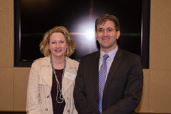 Ruth Burns of Regeneron with Dr. Kashani
