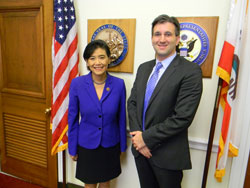 Prior to the Briefing and under the auspices of NAEVR, Dr. Kashani met with Congresswoman Judy Chu (D-CA), with whom he had met in October 2015 during the first EVS Day