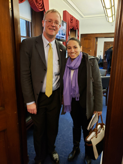 Dr. Koulen with Cong. Sharice Davids (D-KS)