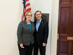 Mary Marquart, PhD (University of Mississippi) with Cong. Michael Guest (R-MS)