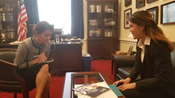 Aurora Paik, office of Cong. Ted Lieu (D-CA) with Sheena Song