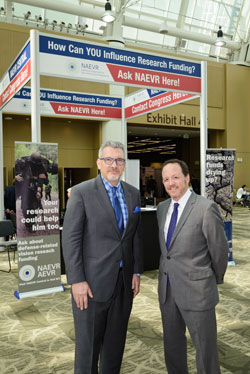 James Jorkasky and David Epstein in front of the NAEVR Central Booth