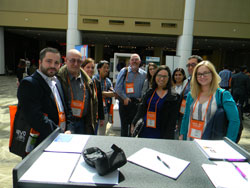 Daniel Pelaez, Ph.D. (Bascom Palmer Eye Institute/University of Miami Miller School of Medicine) and his colleagues—many of whom are early-stage investigators. Dr. Pelaez participated in AEVR's first-ever Emerging Vision Scientists Day, held in October 2015.