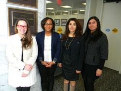 From left: Megan Collins, M.D. (Johns Hopkins University/Wilmer Eye Institute), Alexandra Meardy, office of Senator Ben Cardin (D-MD), Nady Golestaneh, Ph.D. (Georgetown University), and Tahreem Mir, M.D. (Johns Hopkins University/Wilmer Eye Institute)