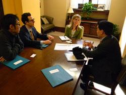 From left: Yasuno Yoshiaki, Ph.D. (University of Tsukuba, Japan), Mark Greiner, M.D. (University of Iowa), Danielle Janowski, office of Senator Joni Ernst (R-IA) and Eliot Sohn, M.D. (University of Iowa)