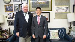Cong. Jim McDermott (D-WA) with Eliot Sohn, M.D. (University of Iowa), whose father is friends with the Congressman