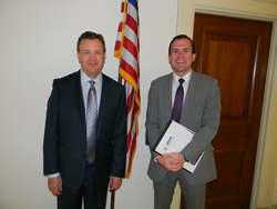 Dr. Martin with Patrick Byrne, office of Cong. Marcia Fudge (D-OH)
