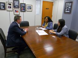 Dr. Martin with Alyssa Brockington and Tina Chhabra, office of Senator Sherrod Brown (D-OH)
