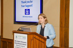 Cynthia Rice, JDRF's Senior Vice President of Advocacy and Policy, spoke about JDRF's