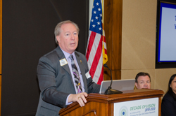 Brian Sheehan, Lions Clubs International Third Vice President, spoke about the organization's SightFirst grant program that supports diabetic retinopathy screening and treatment programs, as well as projects that serve patients already diagnosed with the disease