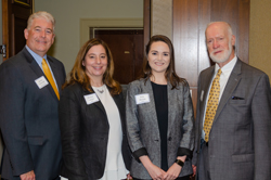 Kevin Corcoran (far left) and Tom Bruderle (far right) of the Eye Bank Association of America with Marisa Lavine and Erin Hering of co-host ARVO