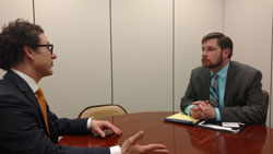 Dr. Greiner with James Rice, office of Senator Chuck Grassley (R-IA)