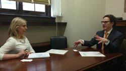Danielle Janowski, office of Senator Joni Ernst (R-IA), with Dr. Greiner