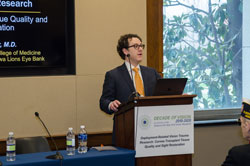 Featured speaker Mark Greiner, M.D. (University of Iowa Carver College of Medicine)