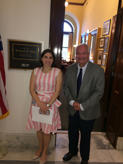 Rachel Soclof, office of Senator Richard Burr (R-NC) with Dr. Perez