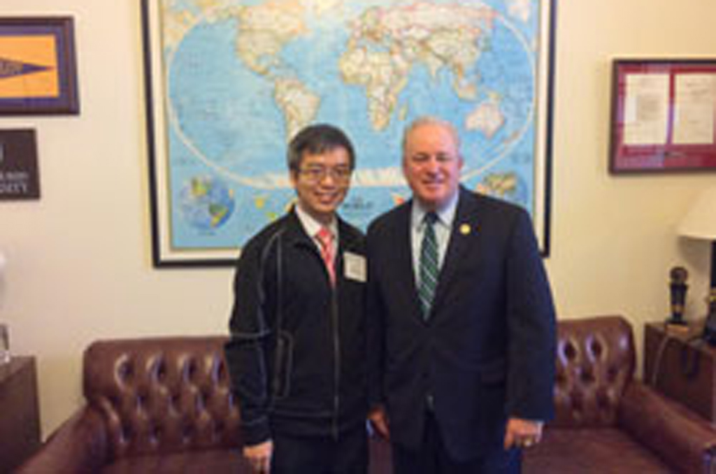 Kevin Chan, Ph.D. (University of Pittsburgh) with Cong. Mike Doyle (D-PA)