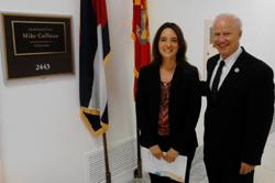 Natalia Vergara, PhD(University of Colorado) with Cong. Mike Coffman (R-CO)
