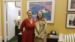 Kate Werely, office of Cong. Mike Doyle (D-PA) with Leah Byrne, PhD (University of Pittsburgh)