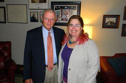 Senator James Inhofe (R-OK) with Shannon Conley, PhD (University of Oklahoma Health Sciences Center)