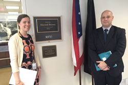 Dean VanNasdale, OD, PhD	(Ohio State College of Optometry) with Christa Wagner, from the office of Senator Sherrod Brown (D-OH)