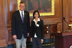 Cong. Randy Hultgren (R-IL) with Elsa Zhuang, PhD (Illinois College of Optometry)
