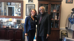 Dimitra Skondra, MD (University of Chicago) with Cong. Danny Davis (D-IL)