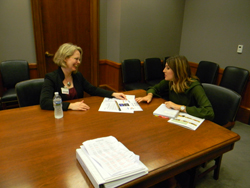 Kristina Haworth, OD, PhD (Southern College of Optometry) with Courtney Bradway, office of Senator Bob Corker (R-TN)