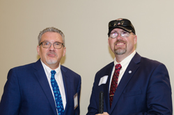 AEVR Executive Director James Jorkasky with Joe Bogart, Executive Director of Blinded Veterans Association