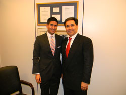 Earlier in the day, Dr. Humayun met with Chris Gaspar from the office of Senator Dianne Feinstein (D-CA). Previously, Chris had worked in the office of Congressman Jim Moran (D-VA), where he was the key staffer in getting the VTRP funded in the defense appropriations bill for the past 5 years.