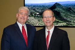 Kevin Corcoran (Eye Bank Association of America) with Dr. Pasquale