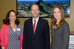 Melissa Honohan (Allegan), left, and Sara Brown (Prevent Blindness) with Dr. Pasquale