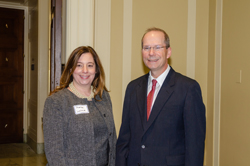 Marisa Lavine (ARVO) with Dr. Pasquale, who serves as an ARVO Trustee representing the Glaucoma Section