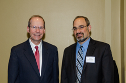 Dr. Pasquale with Shefa Gordon, PhD, Director of the NEI's Office of Program Planning and Analysis
