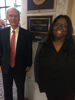 Dr. Pasquale with Adeola Adesina, office of Senate Minority Leader Chuck Schumer (D-NY)