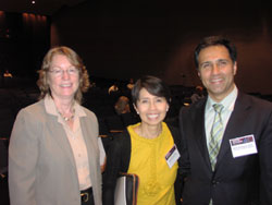 Deborah Carper, Ph.D. (NEI Deputy Director), Emily Chew, M.D. (Deputy Director, NEI Division of Epidemiology and Clinical Applications) and featured speaker Mark Humayun, M.D., Ph.D. (Doheny Eye Institute/University of Southern California)
