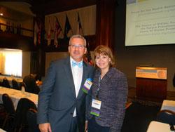 Left to right: NAEVR/AEVR Executive Director James Jorkasky with Torrey DeKeyser (EyeSight Foundation of Alabama)