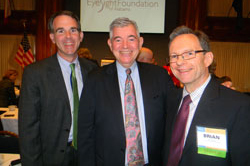Left to right: Michael Buckley (BrightFocus Foundation), Arthur Makar (Fight for Sight) and Brian Hofland, Ph.D. (Research to Prevent Blindness)