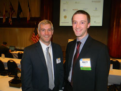Left to right:  Director of the NEI Office of Translational Research Matt McMahon, Ph.D. and ARVO's Matt Windsor, Ph.D.