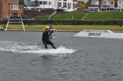 BVA President Mark Cornell wakeboards at the Hove Lagoon watersports facility in Brighton