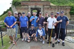 The full group of 2015 Project Gemini participants-including United States, United Kingdom, and South African veterans-visiting Newhaven Fort