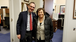 Brian Hofland, PhD (Research to Prevent Blindness) with Cong. Nita Lowey (D-NY), Chair of the House Appropriations Committee