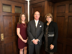 Torrey DeKeyser, left and Sara Brown (Prevent Blindness), with Cong. Robert Aderholt (R-AL) who serves on the House Appropriations Committee