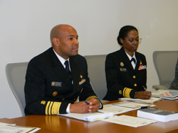 From left: United States Surgeon General Jerome Adams, MD, MPH and Deputy Surgeon General Erica Schwartz, MD, JD