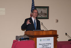 Gadi Wollstein, M.D. (University of Pittsburgh) speaks