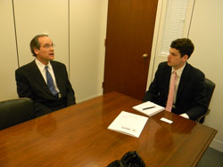 Left to right: Dr. Wollstein with Theo Merkel in the office of Senator Pat Toomey (R-PA
